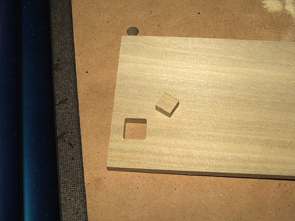 Horizontal Mortiser Cutting Square Holes In Wood