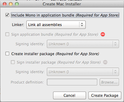 Creating Package Installers for MonoMac